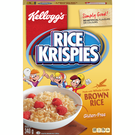 Rice Krispies Cereal, Brown Rice, Gluten Free 340g