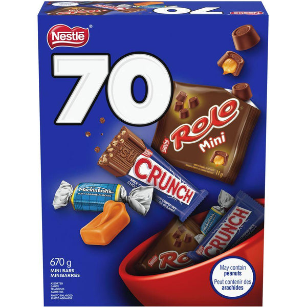 Rolo Crunch & Mackintosh Snack Size Bars 70 Count 670 g