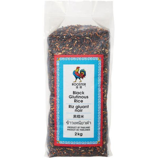 Rooster Black Glutinous Rice 2 kg Rooster Couryah
