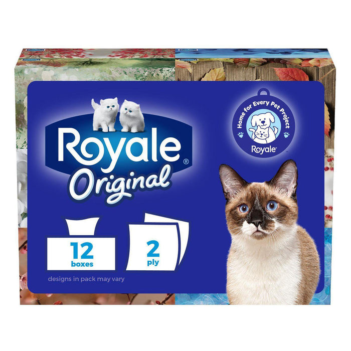 Royale Original 2-Ply Facial Tissues, 12 x 100 Sheets Royale Couryah