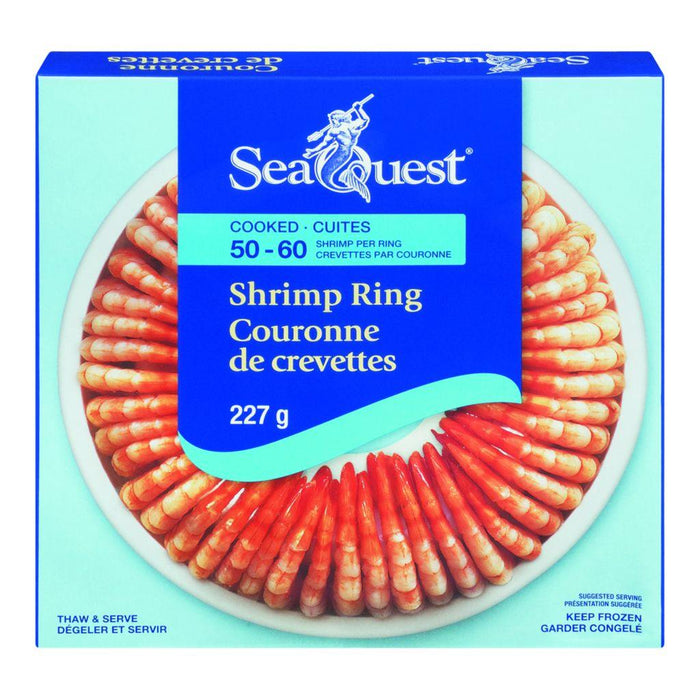Seaquest Cooked Shrimp Ring, Thaw & Serve 227 g SeaQuest Couryah