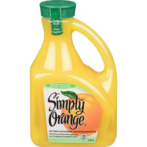 Simply Orange Juice with Pulp 2.63 L Simply Orange Couryah