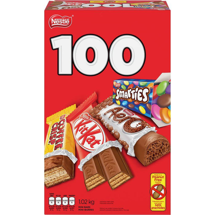 Smarties Aero Kitkat & Coffee Crisp Snack Size Bars 100 Count 1.02 kg Kit Kat Couryah