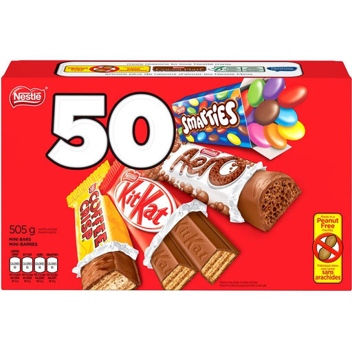 Smarties Aero Kitkat & Coffee Crisp Snack Size Bars 50 Count 505 g Kit Kat Couryah
