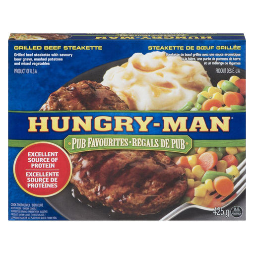 Swanson Hungry-Man Pub Favourites, Grilled Beef Steakette 425 g Swanson Couryah