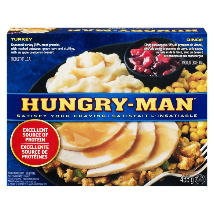 Swanson Hungry-Man, Carved White Meat Turkey 455 g Swanson Couryah