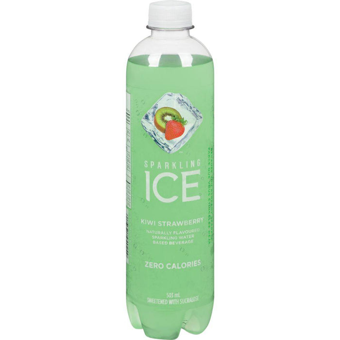 Talking Rain Ice Sparkling Beverage, Kiwi Strawberry 503mL Talking Rain Couryah