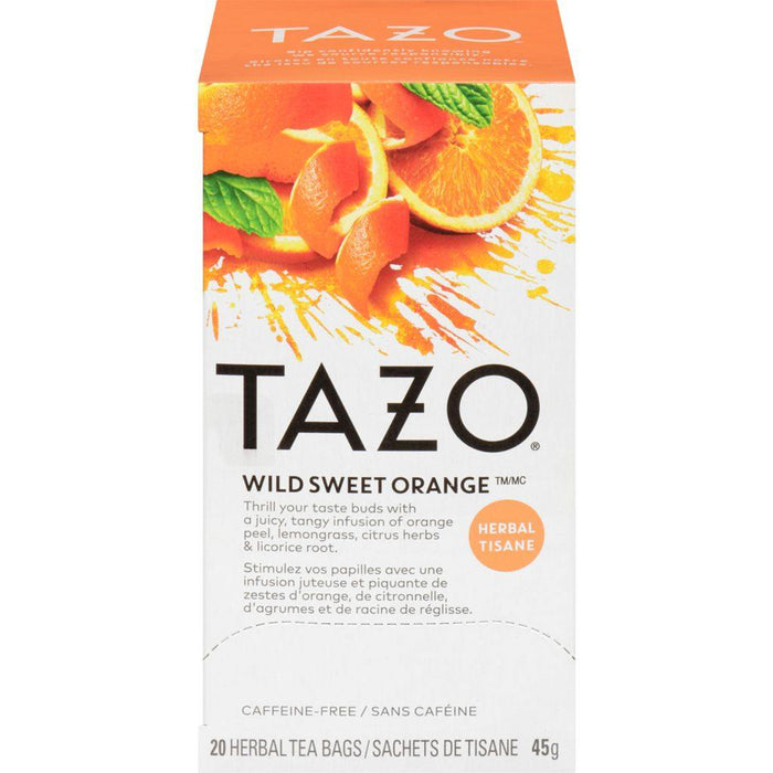 Tazo Wild Sweet Orange Tea 20 Each 45 g Tazo Couryah