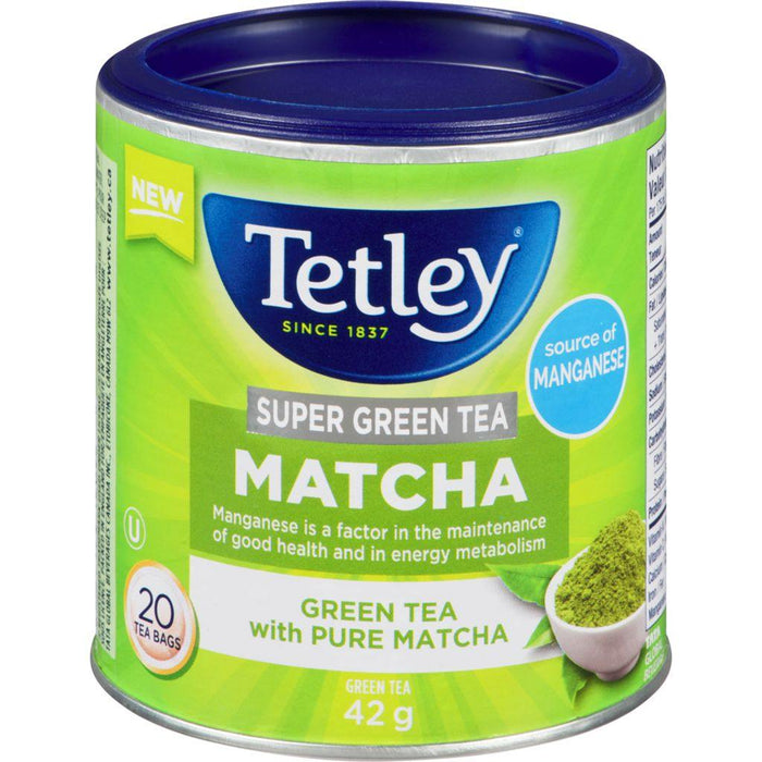 Tetley Super Green Matcha 20 Each Tetley Couryah