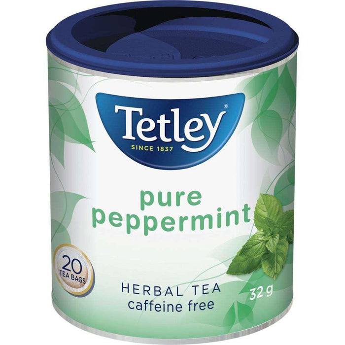 Tetley Pure Peppermint Tea 20 Each Tetley Couryah
