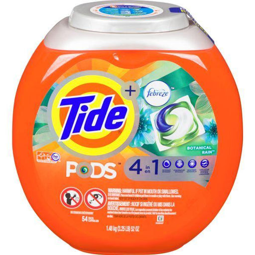 Tide+ Pods 4 in 1 Febreze Botanical Rain Liquid Laundry Detergent, 54 Pacs 1.48 kg Tide Couryah