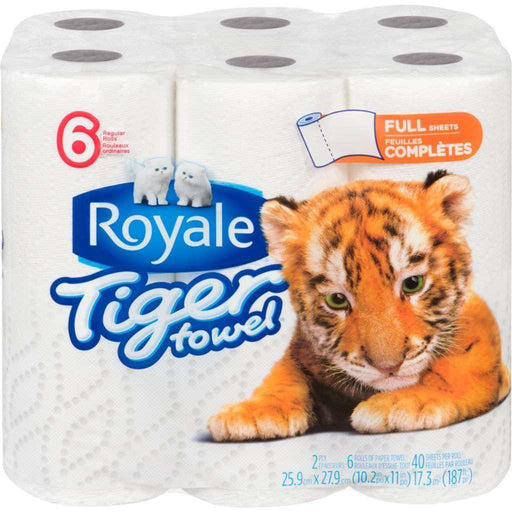 Tiger Towel Paper Towels Full Sheet 6 Rolls Tiger Couryah