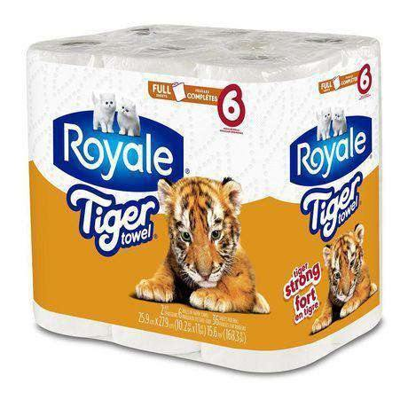 Tiger Towels 36 Sheets 2 Ply 6 Rolls Tiger Couryah