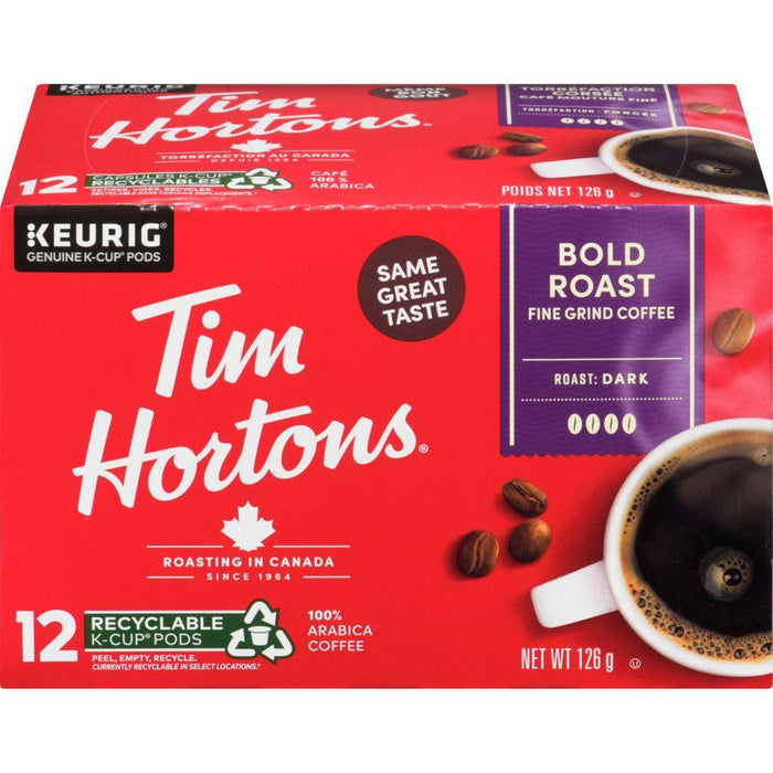 Tim Hortons Bold Roast Coffee K-cup 12 Each 126 g Tim Hortons Couryah