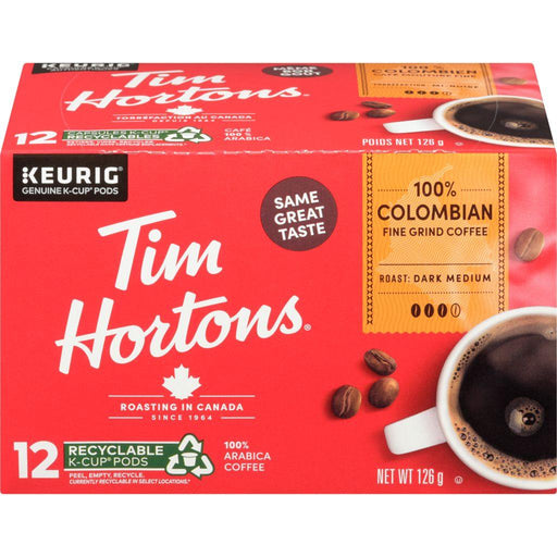 Tim Hortons Colombian Coffee K-cup 12 Each 126 g Tim Hortons Couryah
