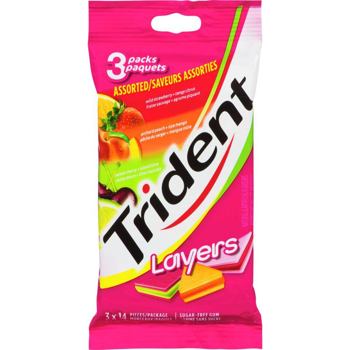 Trident Layers Assorted 3 Pack 14 Pieces Trident Couryah