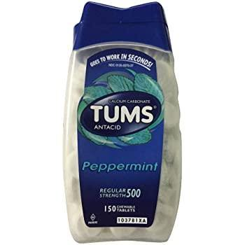 Tums Antacid Regular Strength 500 mg, Peppermint (150 Tablets) - COURYAH