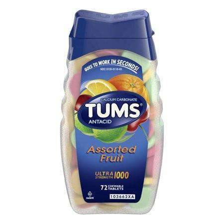 Tums Antacid Ultra Strength 1000 mg, Assorted Fruit (72 Tablets)