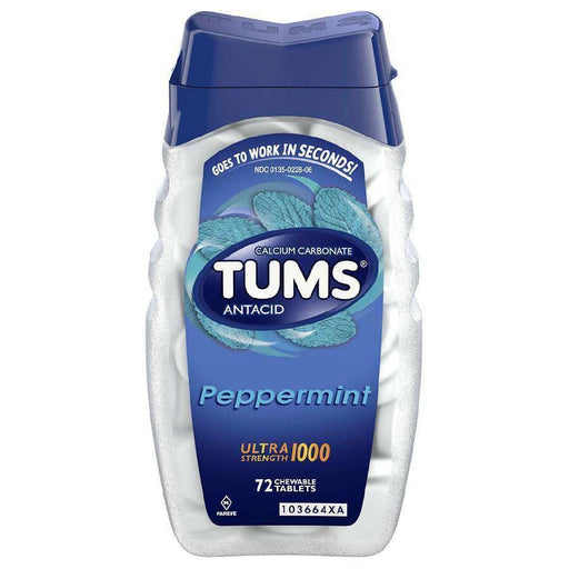 Tums Peppermint - 72 Each Tums Couryah