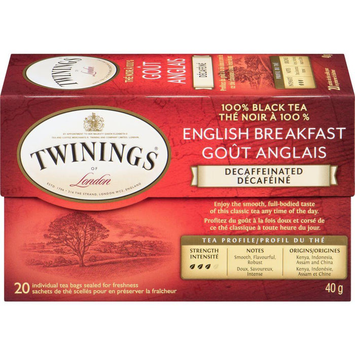 Twinings English Breakfast Decaffeinated 20 Each 40 g Twinings Couryah