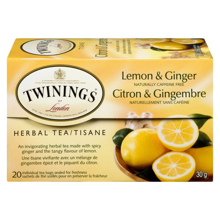 Twinings Lemon & Ginger Tea 20 Each 30 g Twinings Couryah