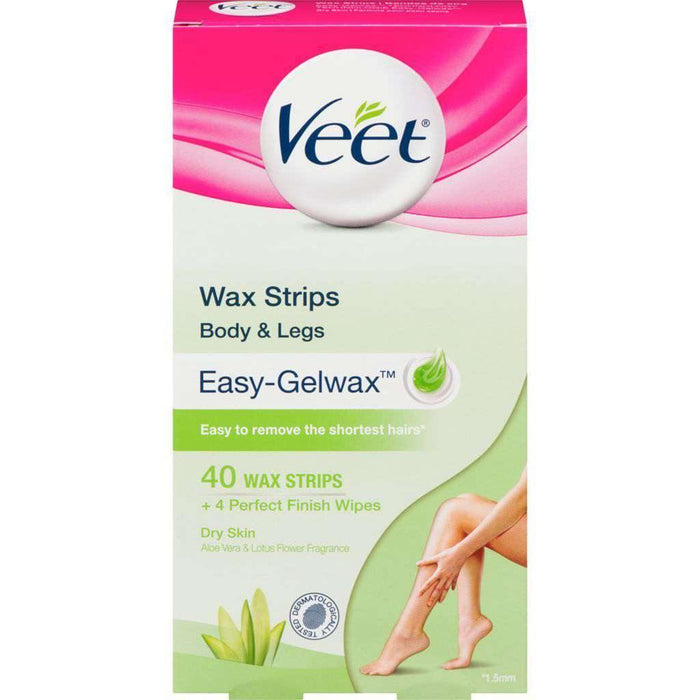 Veet Dry Skin Wax - Strips 40 Each Veet Couryah