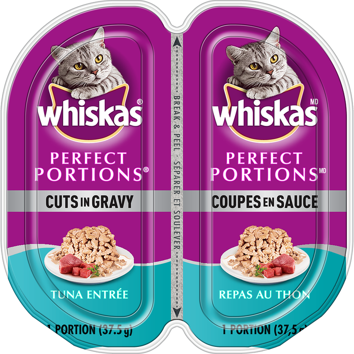 Whiskas Perfect Portions Cuts in Gravy, Tuna Entrée (2 x 37.5g)