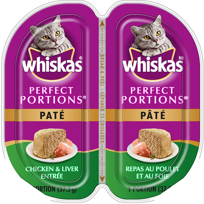 Whiskas Perfect Portions Paté, Chicken & Liver Entrée (2 x 37.5g)