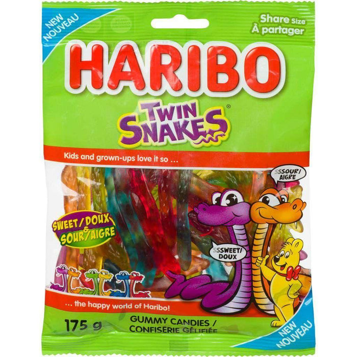 HARIBO TWIN SNAKES SWEET AND SOUR GUMMIES CANDY 175 g Haribo Couryah