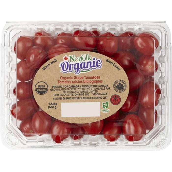 Organic Grape Tomatoes 680 g Tomatoes Couryah