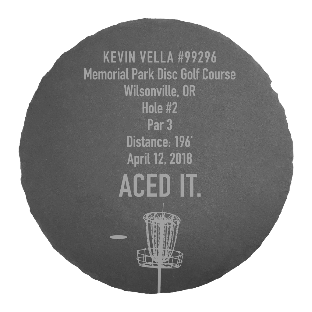 Stone Slate - Ace Award - PAS Disc Golf