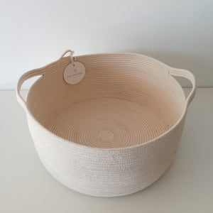 Handle Basket Ivory Small - SALE