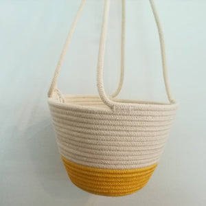 Hanging Planter Yellow Block Small - SALE