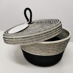 Lidded Basket Liquorice - SALE