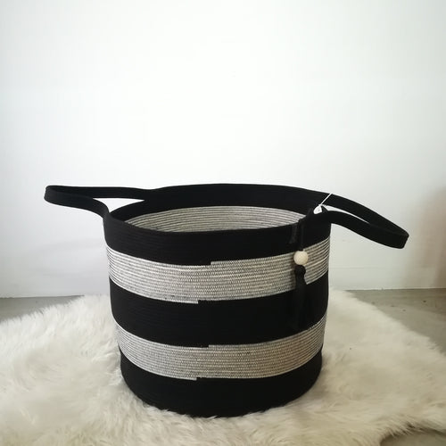 Striped Liquorice Floor Basket - SALE