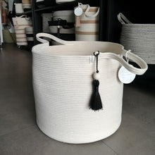 Floor Basket Ivory M - SALE