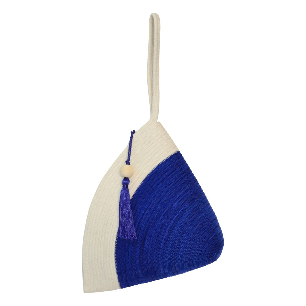 Handle Clutch Bag Royal Blue Block