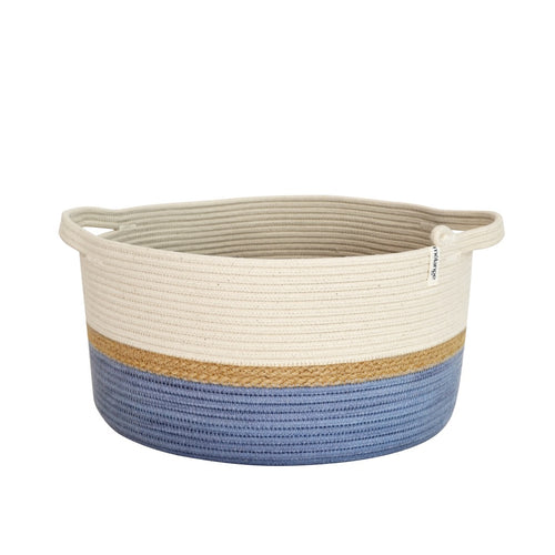 Handle Basket Jute & Blue-Grey