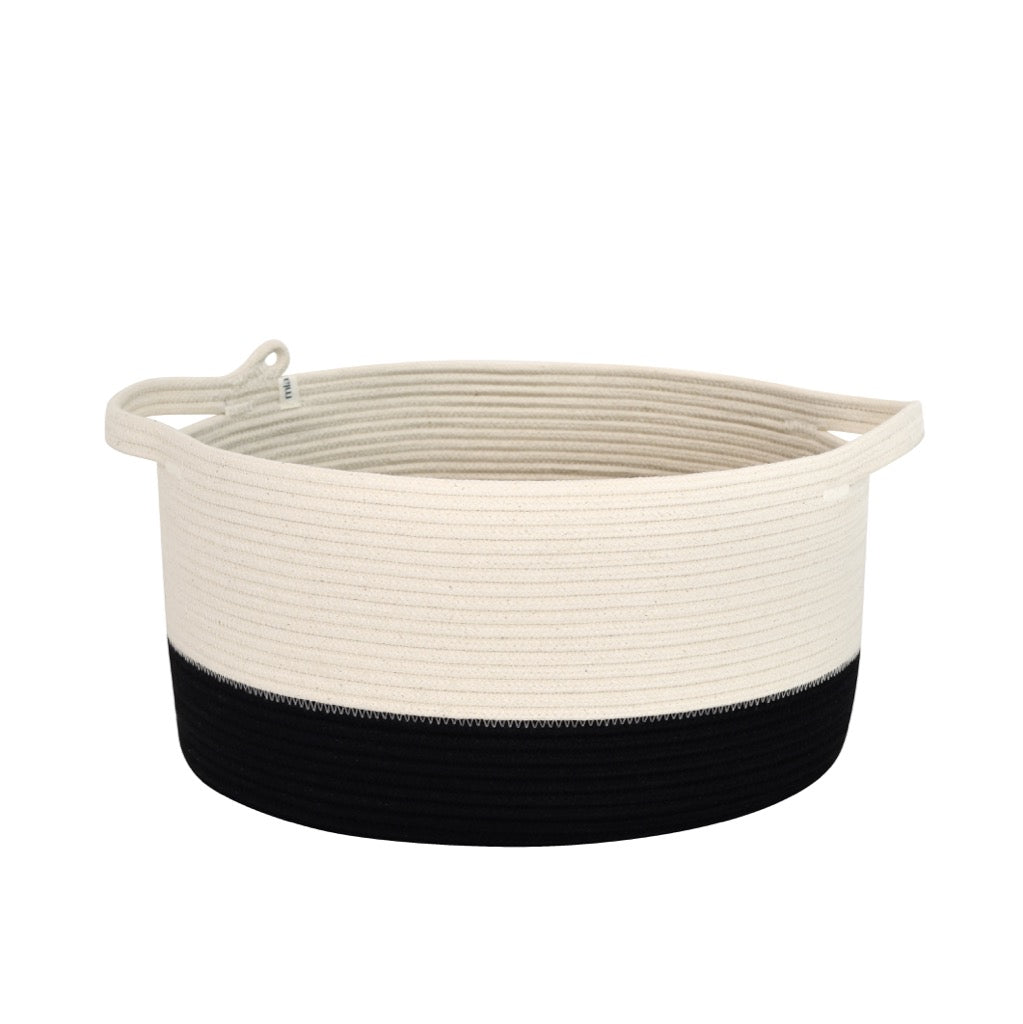 Handle Basket Black Block