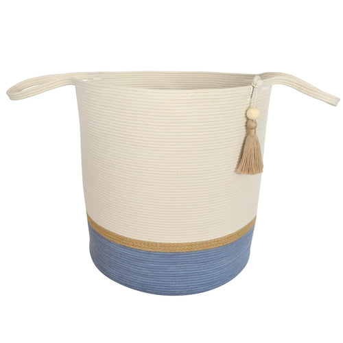 Floor Basket Jute & Blue-Grey