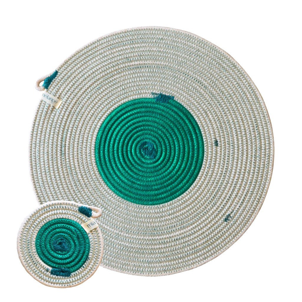 Placemats & Coasters (set of 4 each) - Greenery