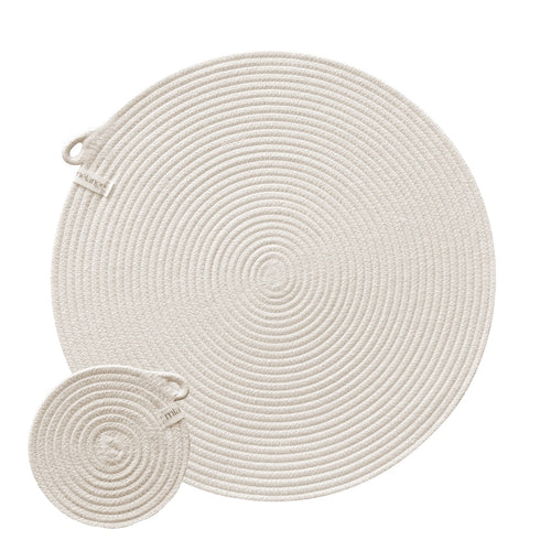 Placemats & Coasters - Ivory (set of 4 each)