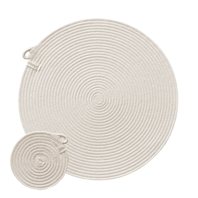 Placemats & Coasters Ivory (set of 4 each)