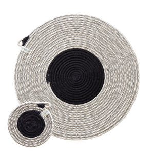 Placemats & Coasters Liquorice (set of 4 each)