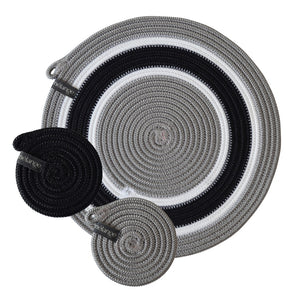 Placemats & Coasters (set of 4 each) - Mbizi Grey