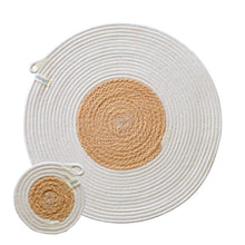 Placemats & Coasters (set of 4 each) - Jute Block