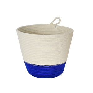Planter Basket - Blue Block