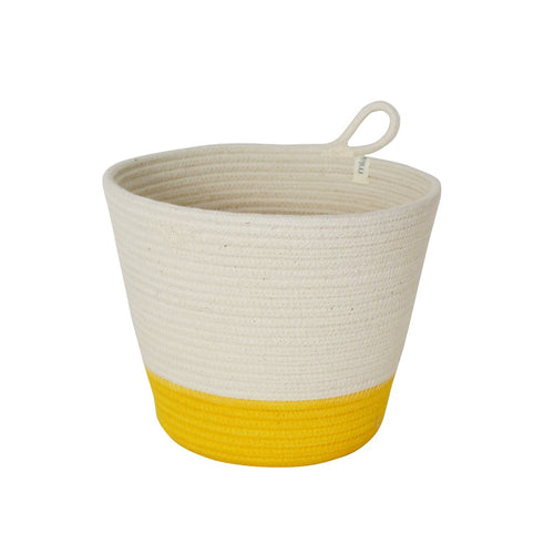 Planter Basket - Yellow Block