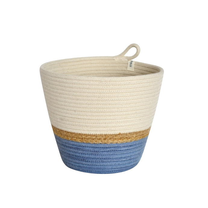 Planter Basket Jute & Blue-Grey