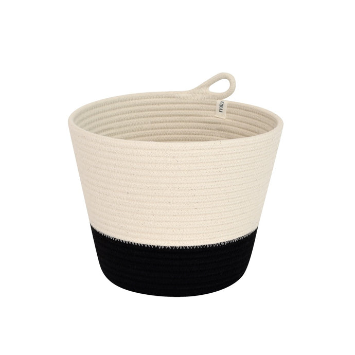Planter Basket Black Block